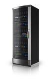 Network server rack vector illustration