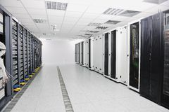 Network server room royalty free stock image