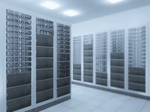 Network server room Royalty Free Stock Photo