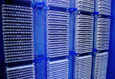 Network server room routers Royalty Free Stock Photos