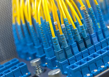 Network server room routers Stock Image