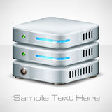 Network server on white Royalty Free Stock Images