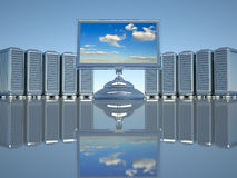 Network servers Royalty Free Stock Photos