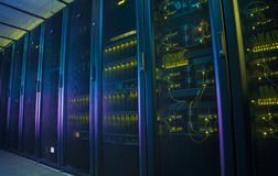 Network servers in a data center. royalty free stock photography
