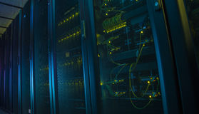 Network servers in a data center. Royalty Free Stock Images