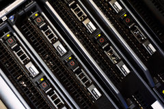 Network servers in data room Stock Photography