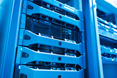Network servers in data room Royalty Free Stock Photography
