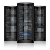 Network servers isolated Stock Image
