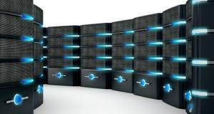 Network servers isolated on white background. 3D illustration.  Stock Photo