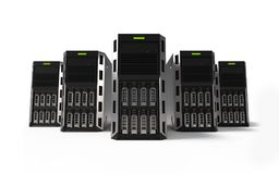 Row of network servers Royalty Free Stock Photos