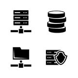 Network servers. Simple Related Vector Icons Royalty Free Stock Photo