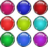 Network set of glass buttons royalty free illustration