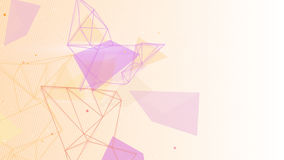 Network shapes abstract background Stock Photos