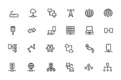 Network and Sharing Vector Outline Icons 2 Stock Image