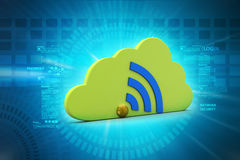 Network sign with cloud Stock Photo