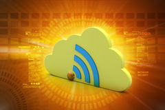 Network sign with cloud Stock Photos