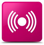 Network signal icon pink square button Stock Photo