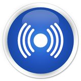 Network signal icon premium blue round button Stock Image