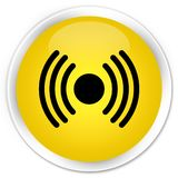 Network signal icon premium yellow round button Royalty Free Stock Photography