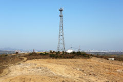 Network signal tower Stock Image