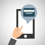 Network smartphone payment credit card digital Stock Photo