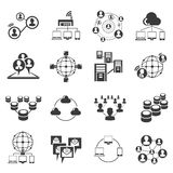 Network and social media concept icons Stock Images