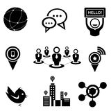 Network and social media icons Stock Photos