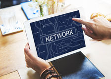 Network Social System Computer Connection Web Concept Royalty Free Stock Images