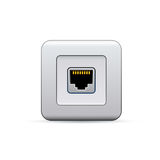 Network socket icon Stock Images