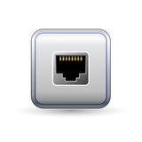 Network socket icon Royalty Free Stock Images