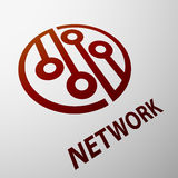 Network. Stock illustration. Royalty Free Stock Images