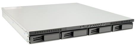 Network storage isolated on white Stock Image