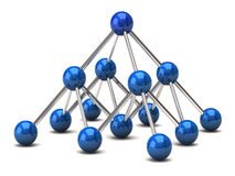 Network structure. Computer graphics illustration of network structure Royalty Free Stock Images