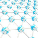 Network structure composition Stock Photography