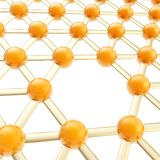 Network structure composition as abstract background Stock Photo
