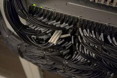 Network Switch and Ethernet Cables Patched into Local Network and IPTV