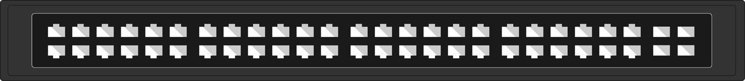 Network switch flat layout Stock Image