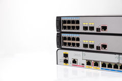 Network switch front panel Royalty Free Stock Images