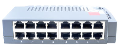 Network switch front view Royalty Free Stock Photography