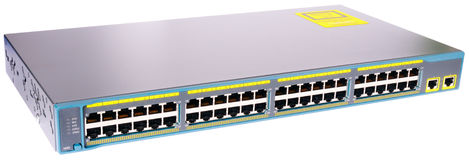 Network switch isometric view Royalty Free Stock Images