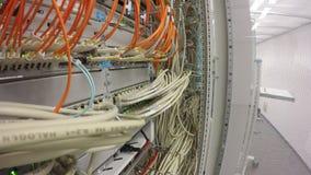 Network Switch LAN and optical fiber LWL stock video