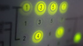 Network switch lights. High-speed Internet access. Close up shot. stock video