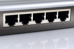 Network switch plugs. Royalty Free Stock Photography