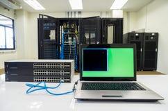 Network Switch setup. Network Switch hub setup Equipment stock images