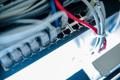 Network Switcher Closeup Stock Image