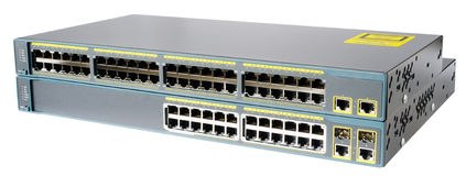 Network switches isolated Stock Images