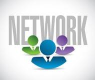 Network team sign illustration design graphic Stock Photo