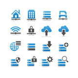 Network technology icon Stock Photos