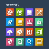 Network technology icon Stock Images