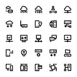 Network Technology Vector Icons 4. In a global world we manage a lot of information, around the world we interact with other people. We need to show and manage Royalty Free Stock Images